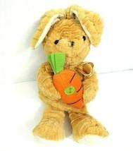 Goffa Jesus Loves Me Rabbit W/Carrot Stuffed Plush Brown Easter NOT WORKING - $14.84