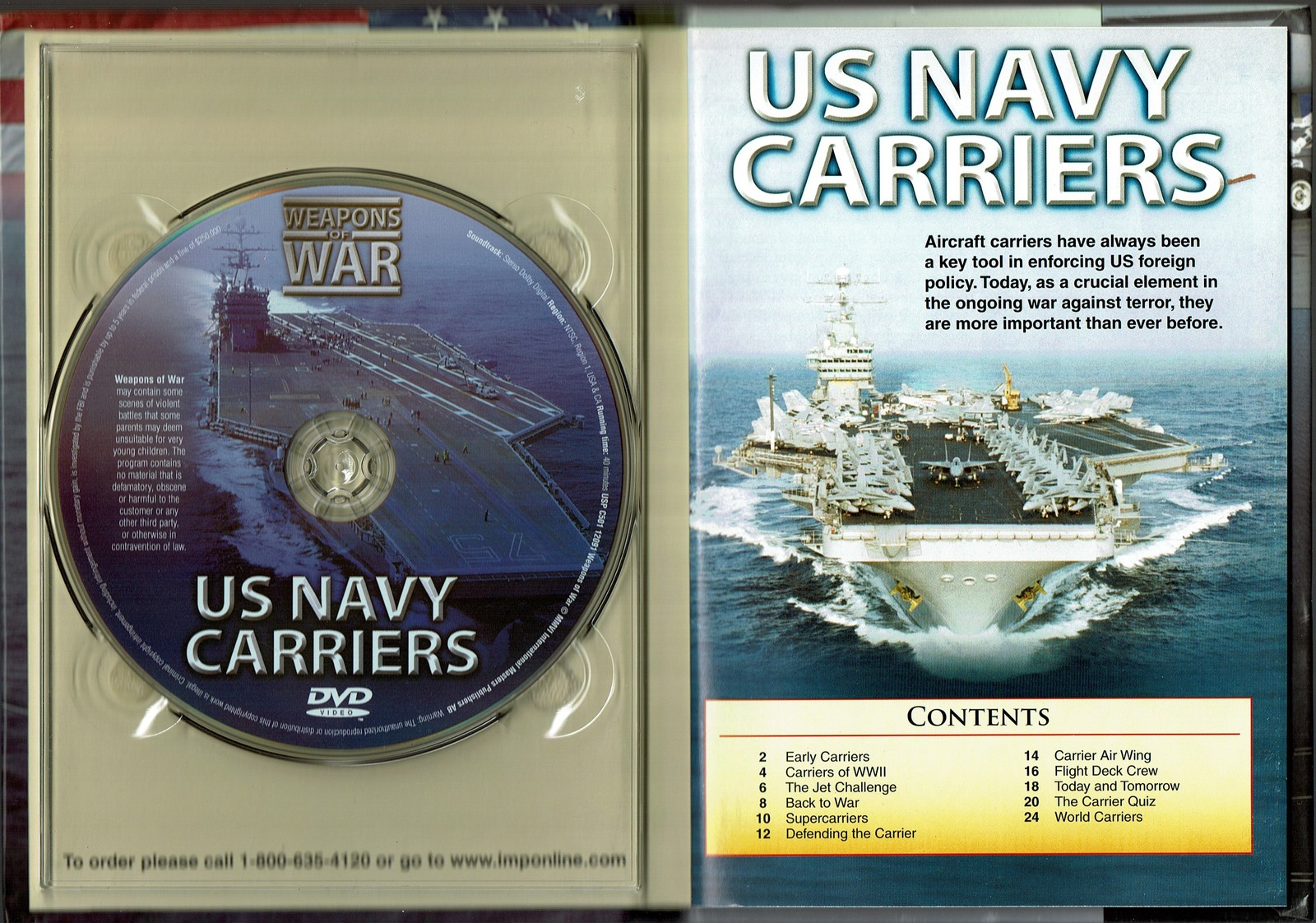 US Navy Carriers: Weapons Of War (DVD & Booklet) 2006 (Documentary)
