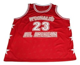 Michael Jordan #23 McDonald's All American New Basketball Jersey Red Any Size image 4