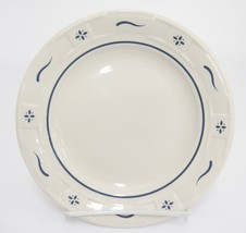 """Longaberger Blue Woven Traditions Bread Butter Plate 7.25"""" Pottery USA V... - $14.84"""