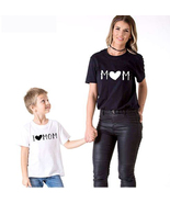 Fashion Mother  Son and daughter clothes Family Look Cotton Tops Tshirt  - $12.99+