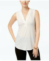 Charter Club Women's Petite Pleated  Offwhite /Cloud Top Size Petite Large - $10.79
