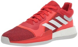 adidas Men's Marquee Boost Low Basketball Shoes, Red/White/Scarlet, 11 M US - $64.15