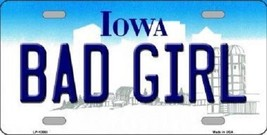 "NCAA Iowa Bad Girl License Plate State Background Metal Tag  U.S.A."" Cyclones - $11.83"