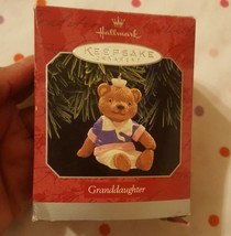 Handcrafted 1998 Hallmark Granddaughter Ornament Keepsake Christmas xmas Bear - $14.12