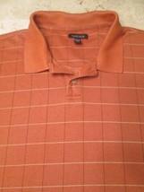 Men's Van Heusen Polo Shirt XXL Orange Tan Color 2X #J2 - $18.50