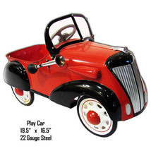 Little Red Play Car Laser Cut Out Metal Sign 16.5x19.5 - $46.53