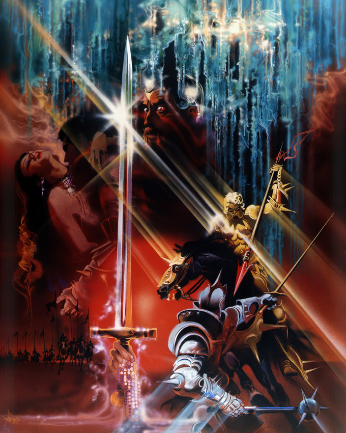 Primary image for Excalibur Nigel Terry Helen Mirren Print Rare Design 16x20 Canvas Giclee