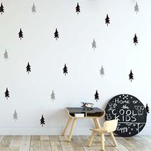 Melissalove 40pcs/Set Large Tree Wall Stickers for Kids Room,Nordic Pine Tree Wa