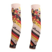 PANDA SUPERSTORE 1-Pair Cool Star Fake Tattoo Sun Sleeves Body Art Arm Covers fo