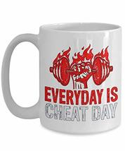 PixiDoodle Fitness Coach Exercise Foodie Gift Coffee Mug (15 oz, White) - $18.99