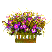 Morning Glory Artificial Arrangement in Decorative Planter - ₹9,459.48 INR