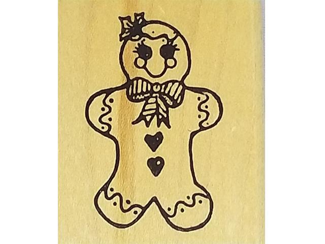 Gingerbread Girl Rubber Stamp
