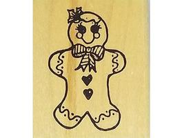 Gingerbread Girl Rubber Stamp image 1