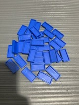 32 VINTAGE BLUE PRESSMAN DOMINO RALLY DOMINOES REFILL PIECES FOR SET PARTS - $9.69