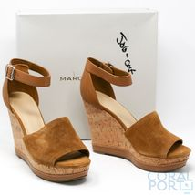 New, Marc Fisher Womens Hillory Twopiece Platform Wedge Sandal, Tan, US 11 - $76.63