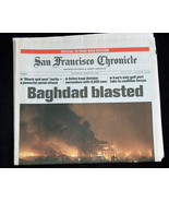 WAR San Francisco Chronicle March 22 2003 Baghdad Iraq Blasted Bombed Ne... - $39.98