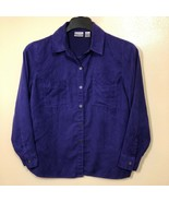 Chicos Button Down Soft Purple Shirt Womens Plus Size 1 1X Metal Buttons - $29.69