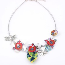 New 2016 Cute frogs Spring style iron flower necklace fashion necklace &... - $15.09