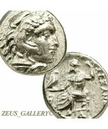 ALEXANDER the Great Rare LIFETIME Ancient Greek Silver Coin Demeter Hera... - $494.10