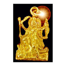 COOL Gold plated 925 Hindu GODDESS KALI Charm OM SHIVA Mahavidya destroy... - $23.14