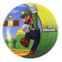 Super Mario Brothers Dessert Plates Birthday Party Supplies 8 Per Packag... - $5.44