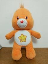 "Care Bears Orange Plush Laugh a Lot with Star 8"" Bear 2003 Stuffed Animal - $9.95"
