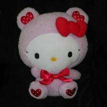 "12"" 2018 Sanrio Hello Kitty Pink W/ Red Hearts & Bow Stuffed Animal Plush Toy - $23.38"