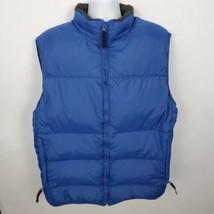 Gap Down Feather Puffer Vest Full Zip Size XL Blue - $49.49