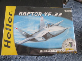 Heller Raptor YF-22 1/72 scale w/paint and glue, brush Kit # 71251 - $34.99