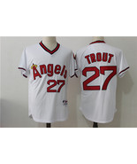 Los Angeles Angels Baseball jersey Trout #27 MLB Cool Base Player Jersey... - $49.90