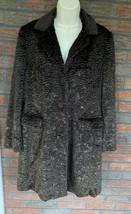 J Jill Faux Fur Coat Medium Brown Long Length Collar Teddy Bear Jacket T... - $29.40