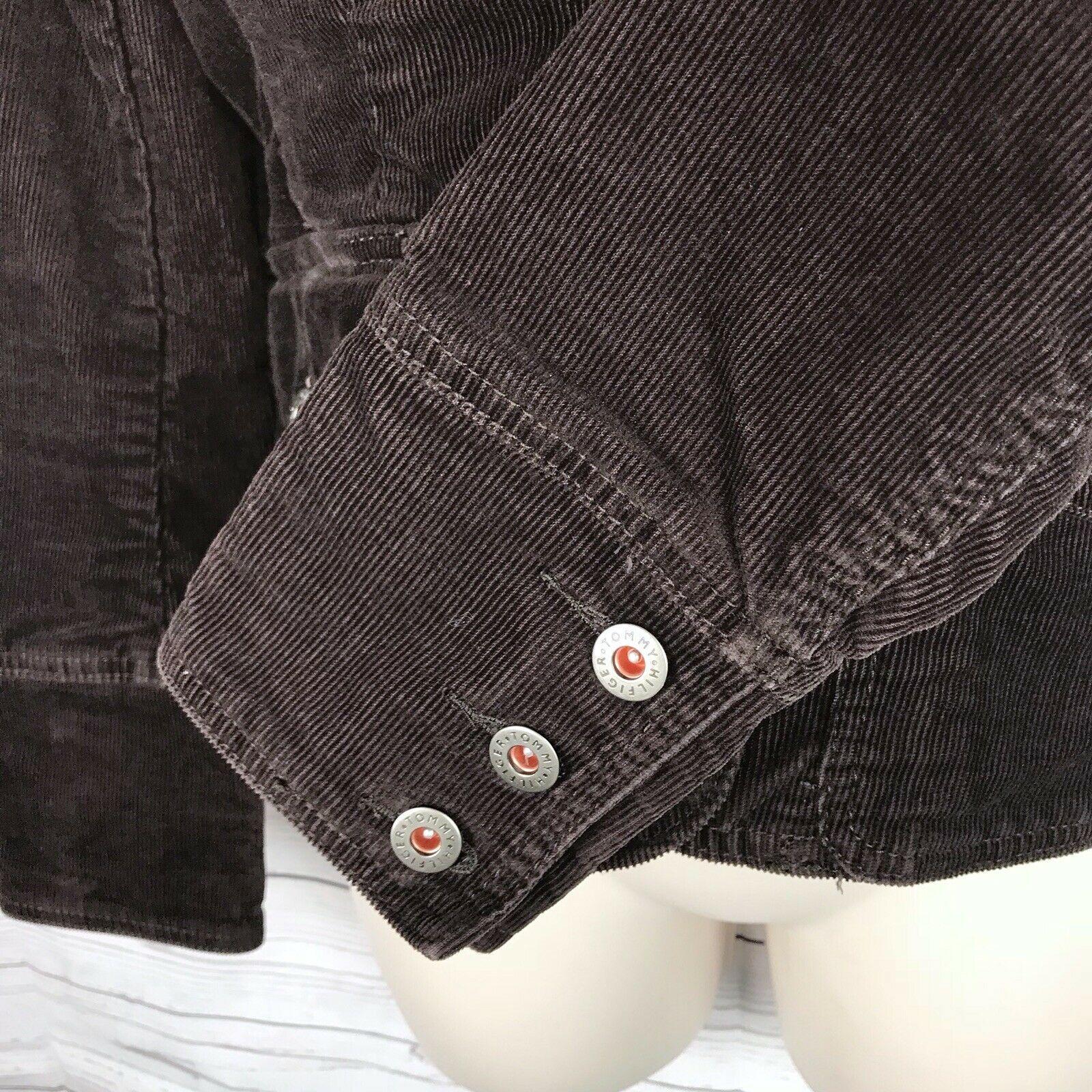 Tommy Hilfiger Corduroy Blazer Jacket Women's S Brown Stretch Button Long Sleeve image 5