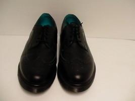 Men's DR Martens shoes casual oxford leather black blue size 12 us new - $118.75