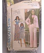 Vintage 1975 McCalls Misses Junior Jacket Vest Skirt Pants 4729 Size 12 ... - $8.00