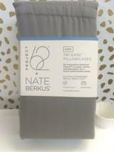 Nate Berkus (KING)-500 TC Tri Ease Herringbone Pillowcase Set Project 62 GREY  image 1