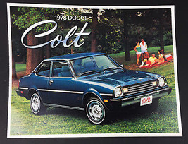 Vintage 1978 Dodge Colt Car Sales Brochure 11 pages - $10.84