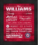 """Washington Capitals """"Family Cheer"""" 13 x 16 Framed Print - $39.95"""