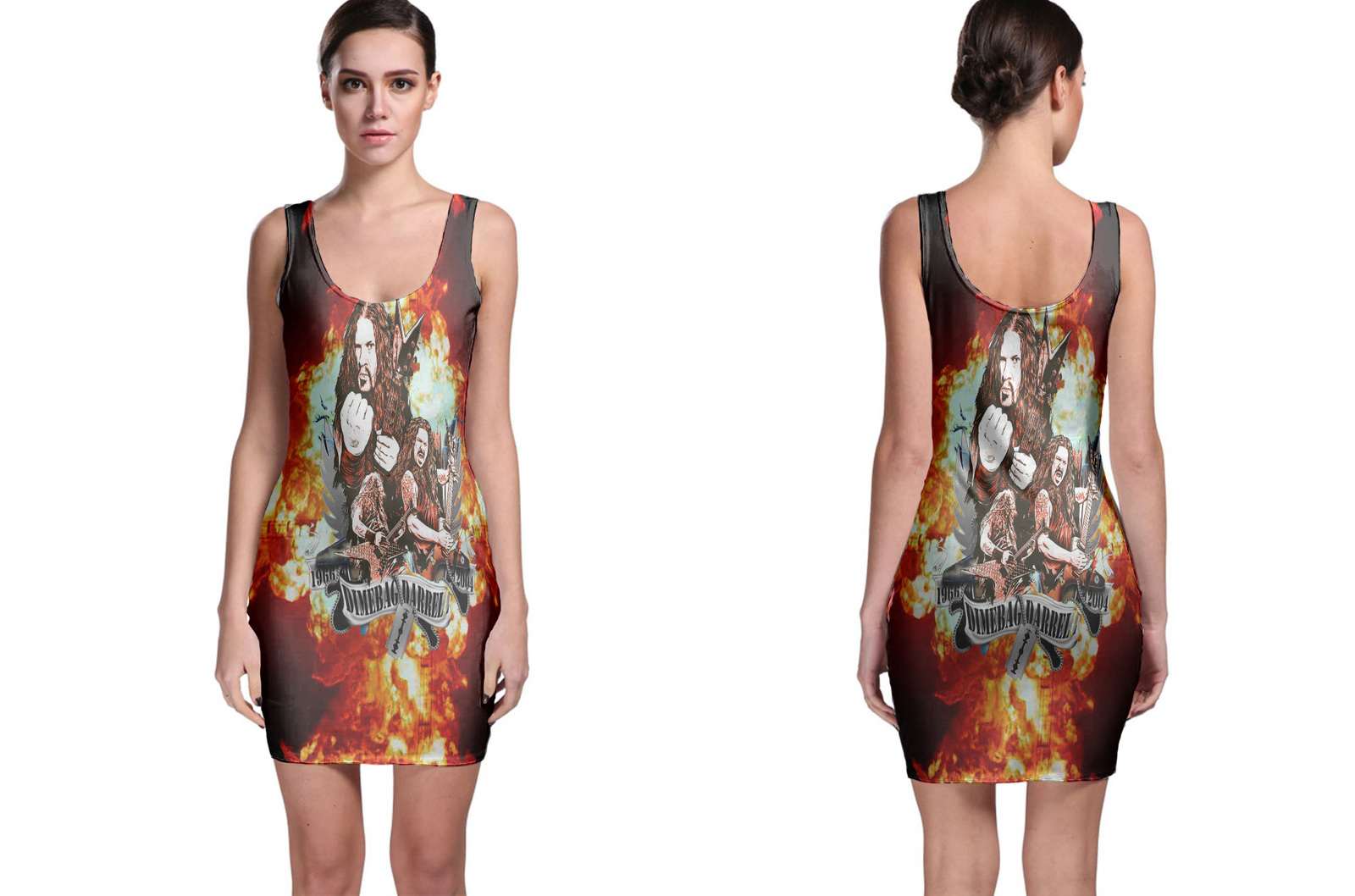 Dimebag Darrell Tribute  RIP METAL GUITARIST Bodycon Dress