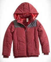 Big Boys' Quilted Puffer Jacket, GBG07088E, Dark Red, Size L(16-18), MSRP $89.5 - $38.61