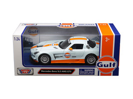 "Mercedes Benz SLS AMG GT3 with ""Gulf\"" Livery Light Blue with Orange St... - $32.98"