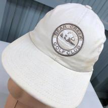Bear Creek Golf Club Strapback Discolored Baseball Cap Hat - £11.04 GBP