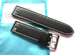 Bodhy Handmade 22mm Pilot Leather Watch Strap Buckle - Black compatible ... - $44.00