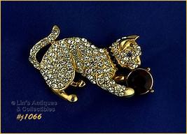 Eisenberg Ice Signed Rhinestone Kitten Pin (#J1066) - $45.00