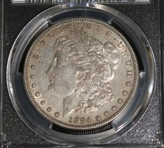 1884 S Key Date PCGS AU 50 Almost Uncirculated Morgan Silver Dollar - $249.95