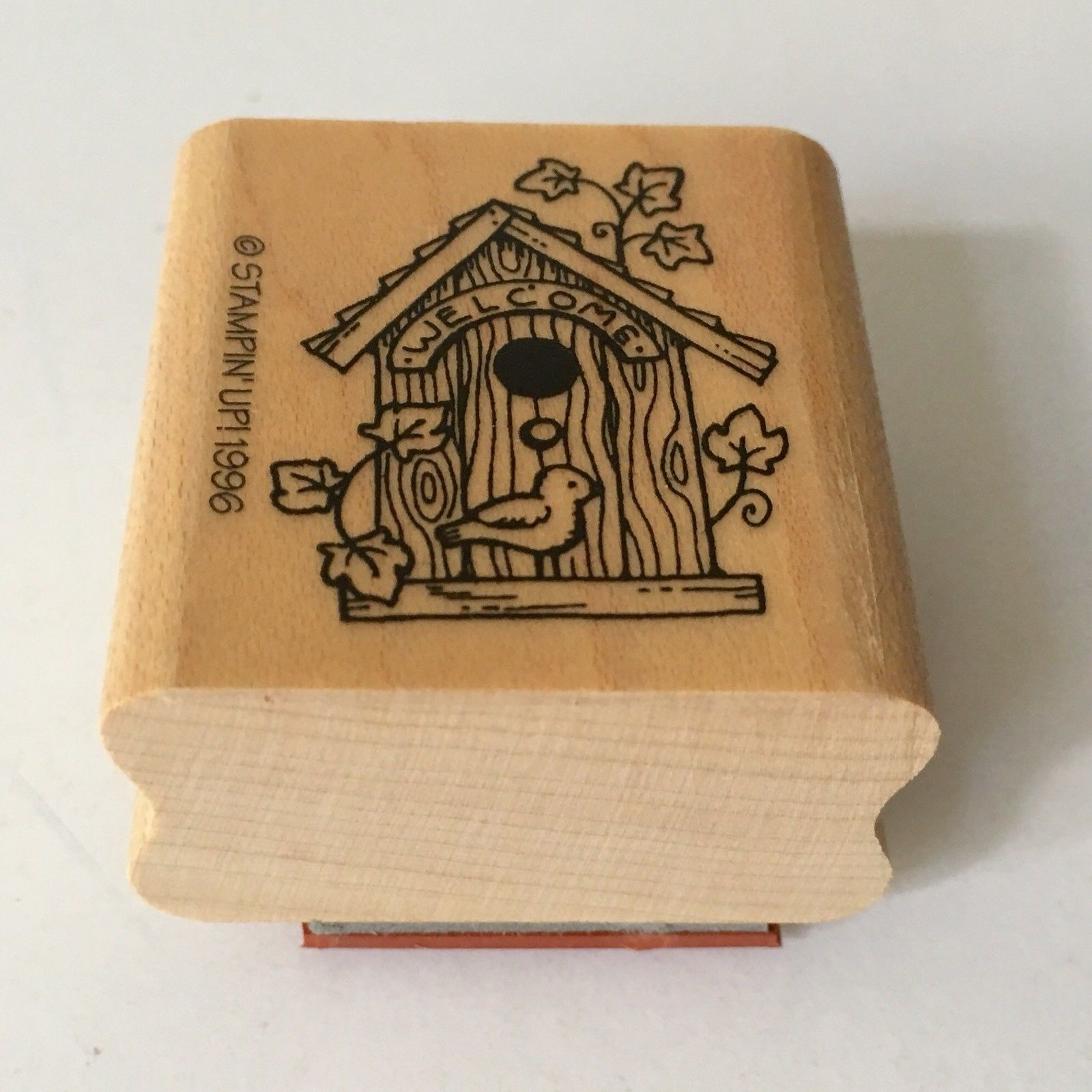 Birdhouse Welcome Home Rubber Stamp Stampin Up Mini Bird Wood Mounted Craft 1996