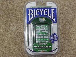 Bicycle Illuminated Touch Pad Electronic Handheld Blackjack Game - $27.00