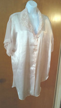 Vtg Intime' California nite shirt gown -Pale Pink Sheer sleeves and back... - $8.80