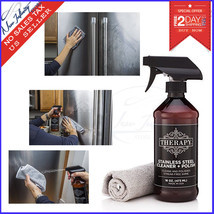 Kitchen Stainless Steel Cleaner Therapy 16 Fl Oz Home Microfiber Cloth P... - $17.57