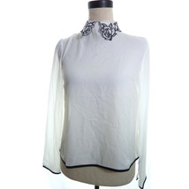 Forever 21 White Sheer Collar Blouse XS - $21.00